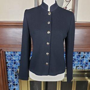 St. John Basics Black Cardigan Sweater